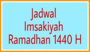 Jadwal imsakiyah Ramadhan 1440