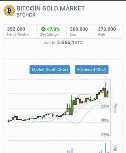 grafik Bitcoin Gold BTG